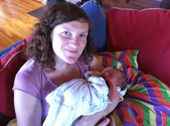Lucy Brosgart with Baby Felix